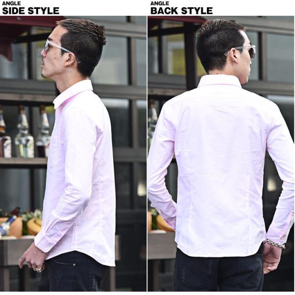 シャツ メンズ 長袖シャツ 長袖 メンズシャツ ワイシャツ Yシャツ コットンシャツ ストレッチ物服 メンズファッション|evergreen92|15