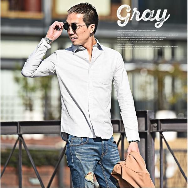 シャツ メンズ 長袖シャツ 長袖 メンズシャツ ワイシャツ Yシャツ コットンシャツ ストレッチ物服 メンズファッション|evergreen92|07
