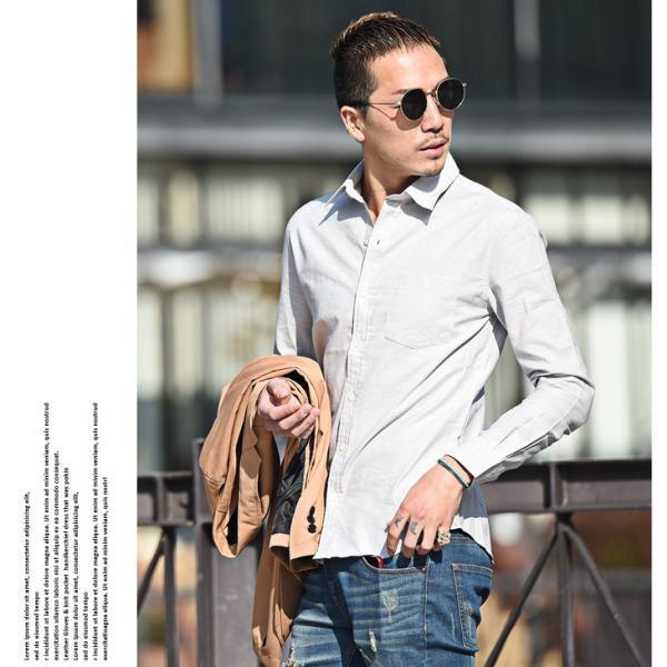 シャツ メンズ 長袖シャツ 長袖 メンズシャツ ワイシャツ Yシャツ コットンシャツ ストレッチ物服 メンズファッション|evergreen92|10