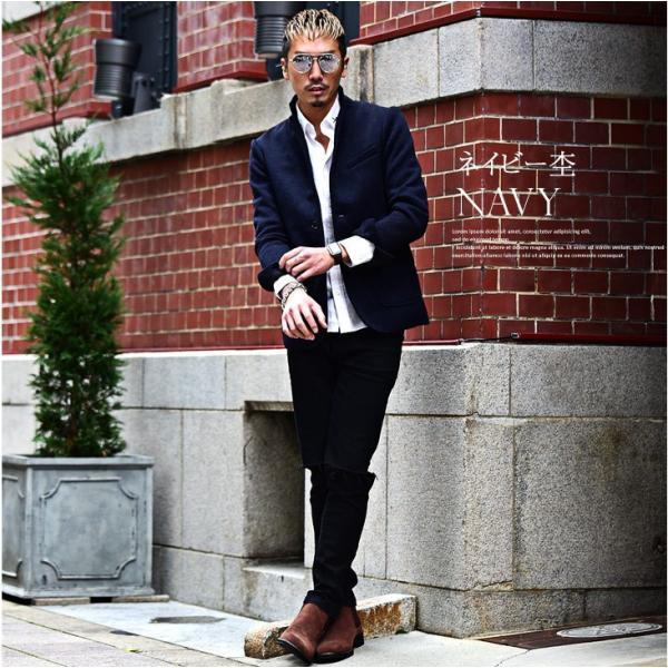 【在庫限り】 テーラードジャケット メンズ コート ジャケット ニット フリース ニットジャケット オシャレ アウター ニットフリース evergreen92 16
