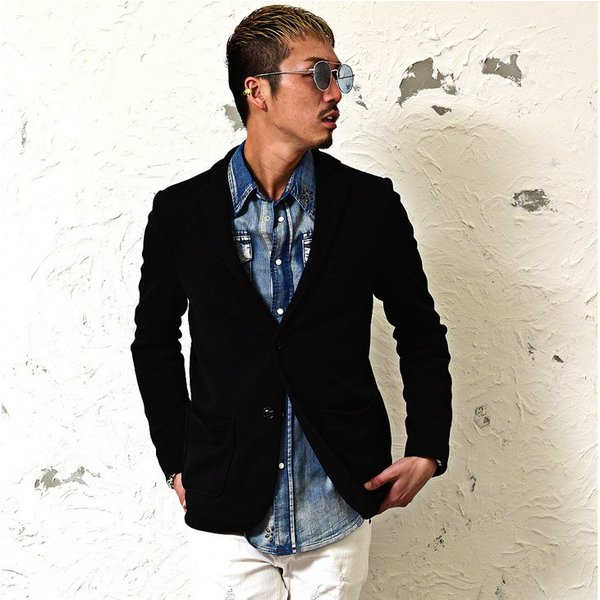 【在庫限り】 テーラードジャケット メンズ コート ジャケット ニット フリース ニットジャケット オシャレ アウター ニットフリース evergreen92 07