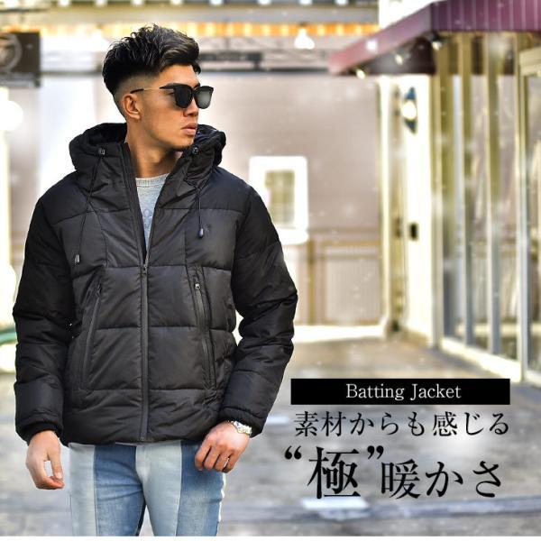 ジャケット 中綿ジャケット メンズ ジャケット ブルゾン コート アウター S LL XL 防寒 秋 冬 送料無料|evergreen92|02