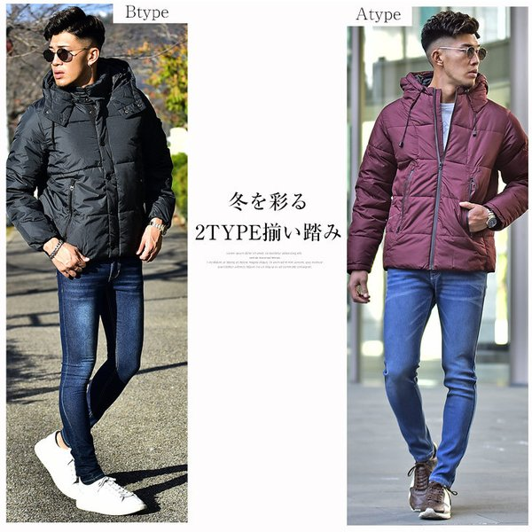 ジャケット 中綿ジャケット メンズ ジャケット ブルゾン コート アウター S LL XL 防寒 秋 冬 送料無料|evergreen92|04