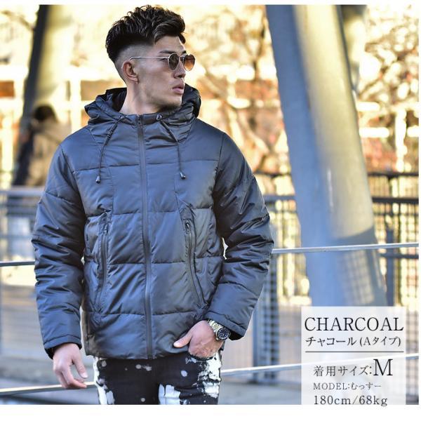 ジャケット 中綿ジャケット メンズ ジャケット ブルゾン コート アウター S LL XL 防寒 秋 冬 送料無料|evergreen92|08