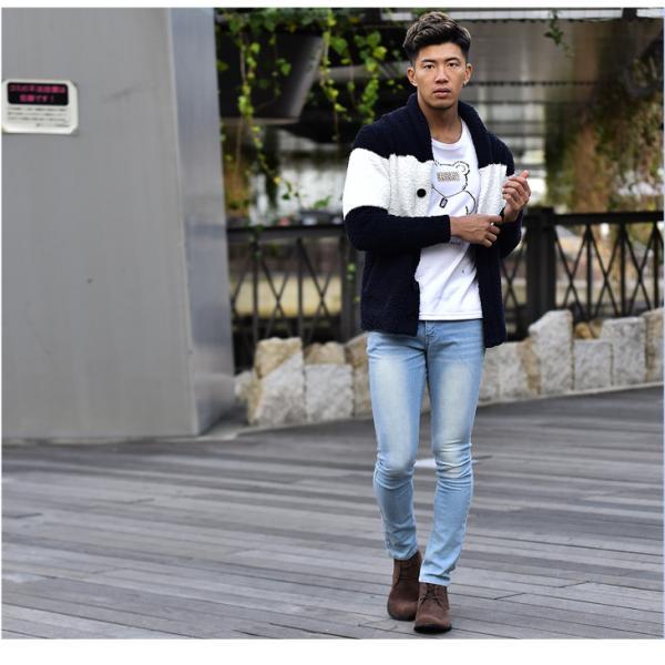 メンズ ブーツ メンズブーツ チャッカブーツ ショートブーツ シューズ 靴 ブラウン ブラック 茶色 黒 オラオラ系 BITTER bitter系|evergreen92|10