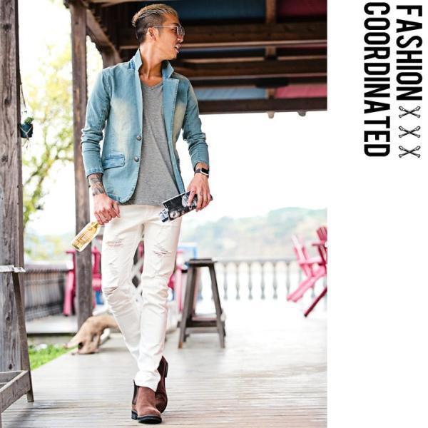 【在庫限り】 テーラードジャケット メンズ ジャケット テーラード ジャケット カットデニム デニム DIVINER ディバイナー|evergreen92|13
