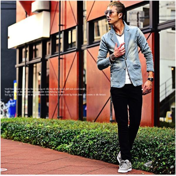 【在庫限り】 テーラードジャケット メンズ ジャケット テーラード ジャケット カットデニム デニム DIVINER ディバイナー|evergreen92|09