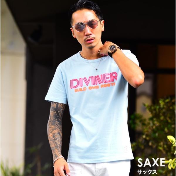 Tシャツ メンズ 半袖Tシャツ カジュアル 半袖 メンズファッション ブルー ピンク ホワイト 白 お兄系 オラオラ系 BITTER|evergreen92|05