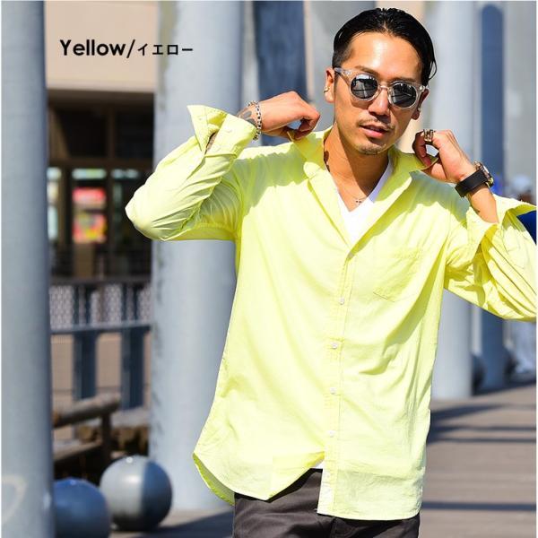 シャツ メンズ 長袖シャツシャツ カラーシャツ 長袖 綿麻 コットンシャツ 無地 Yシャツ ワイシャツ XL メンズファッション|evergreen92|14