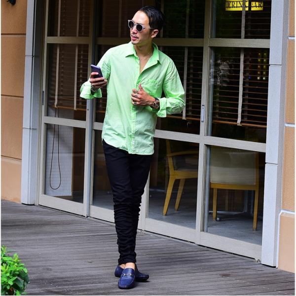 シャツ メンズ 長袖シャツシャツ カラーシャツ 長袖 綿麻 コットンシャツ 無地 Yシャツ ワイシャツ XL メンズファッション|evergreen92|18