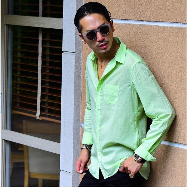 シャツ メンズ 長袖シャツシャツ カラーシャツ 長袖 綿麻 コットンシャツ 無地 Yシャツ ワイシャツ XL メンズファッション|evergreen92|19