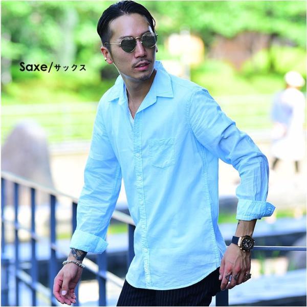 シャツ メンズ 長袖シャツシャツ カラーシャツ 長袖 綿麻 コットンシャツ 無地 Yシャツ ワイシャツ XL メンズファッション|evergreen92|08