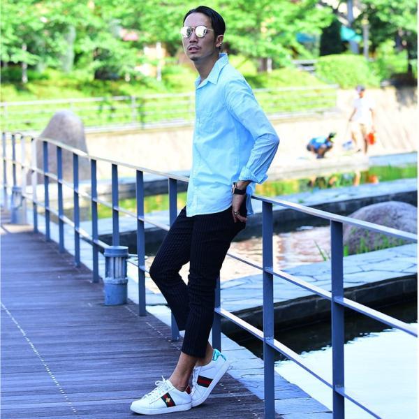 シャツ メンズ 長袖シャツシャツ カラーシャツ 長袖 綿麻 コットンシャツ 無地 Yシャツ ワイシャツ XL メンズファッション|evergreen92|09