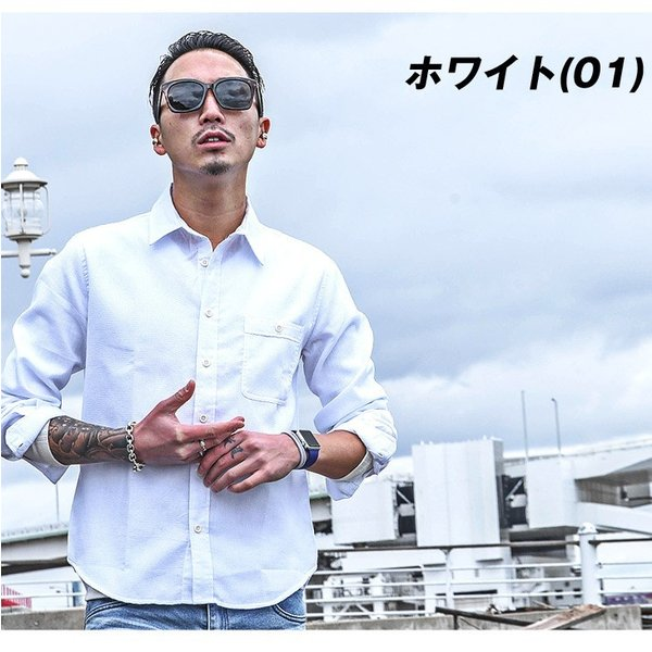 シャツ メンズ チェックシャツ 綿麻 ボーダー ネルシャツ 長袖シャツ ネイビー 長袖シャツ チェック柄 フランネル 送料無料|evergreen92|05