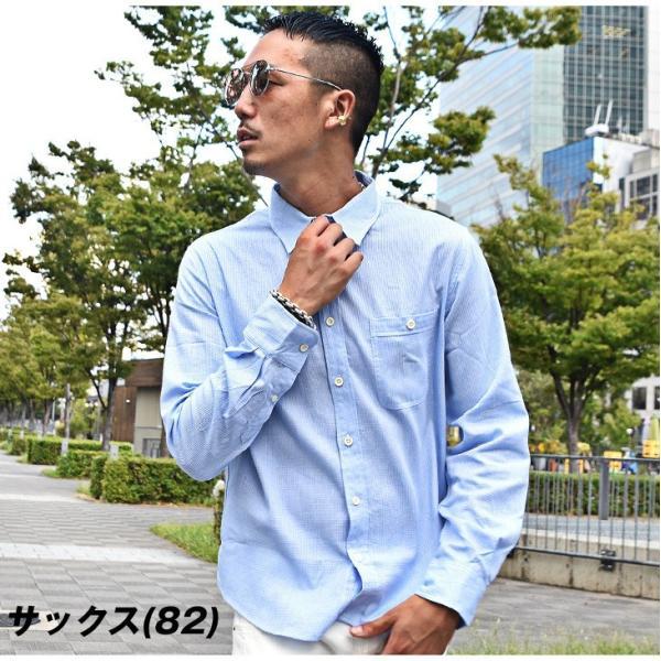 シャツ メンズ チェックシャツ 綿麻 ボーダー ネルシャツ 長袖シャツ ネイビー 長袖シャツ チェック柄 フランネル 送料無料|evergreen92|08