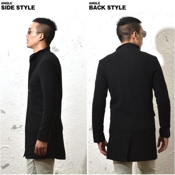コート メンズ ジャケット テーラードジャケット スーツ イタリアンカラー コート 細身 タイト 無地 襟 グレー ブラック|evergreen92|11