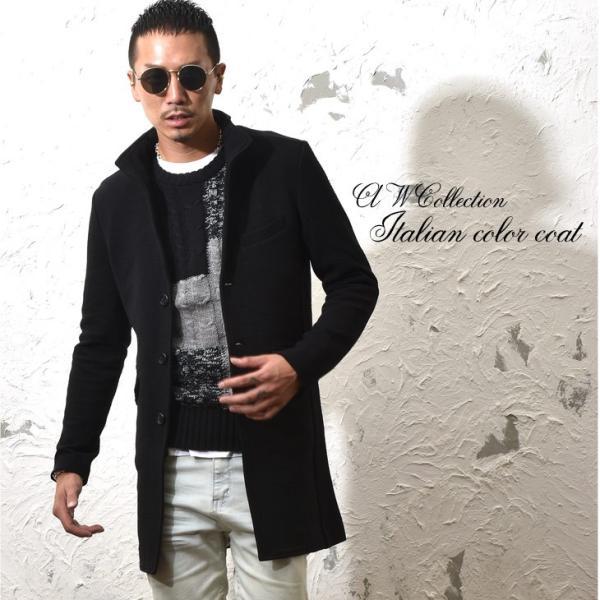 コート メンズ ジャケット テーラードジャケット スーツ イタリアンカラー コート 細身 タイト 無地 襟 グレー ブラック|evergreen92|09