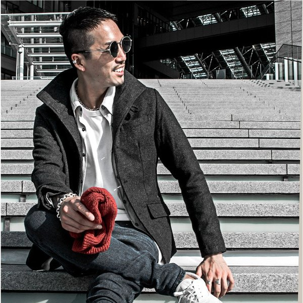 ジャケット メンズ テーラードジャケット スーツ イタリアンカラー ジャケット アウター 細身 タイト 無地 襟 グレンチェック|evergreen92|15