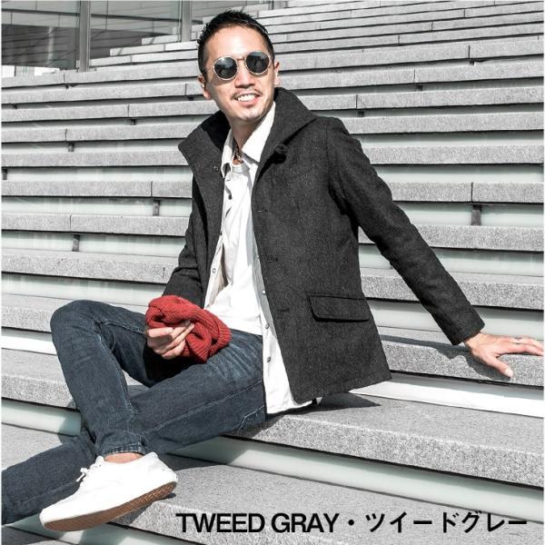 ジャケット メンズ テーラードジャケット スーツ イタリアンカラー ジャケット アウター 細身 タイト 無地 襟 グレンチェック|evergreen92|16