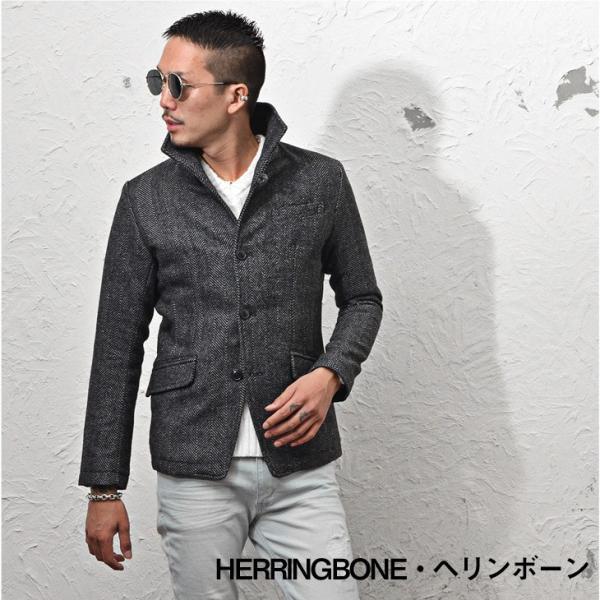 ジャケット メンズ テーラードジャケット スーツ イタリアンカラー ジャケット アウター 細身 タイト 無地 襟 グレンチェック|evergreen92|20