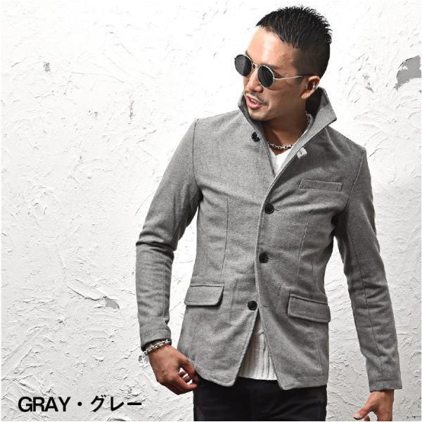 ジャケット メンズ テーラードジャケット スーツ イタリアンカラー ジャケット アウター 細身 タイト 無地 襟 グレンチェック|evergreen92|08