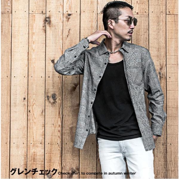 ネルシャツ メンズ チェックシャツ 長袖シャツ 無地シャツ チェック レギュラーカラー ホワイト レッド ブロック 長袖シャツ|evergreen92|08