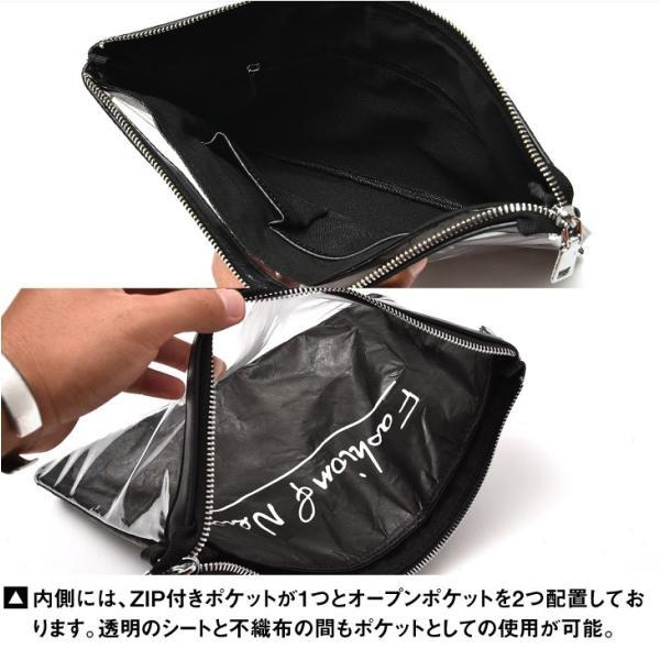 クラッチバッグ メンズ 鞄 カバン クラッチ PVC クリアクラッチバッグ クリア素材 クリアバック クラッチバック 肩掛け evergreen92 11