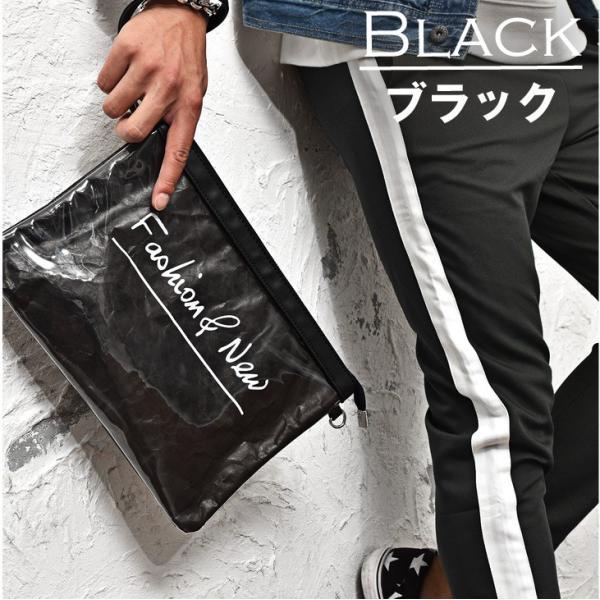クラッチバッグ メンズ 鞄 カバン クラッチ PVC クリアクラッチバッグ クリア素材 クリアバック クラッチバック 肩掛け evergreen92 06