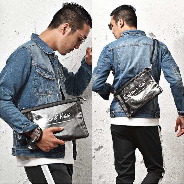 クラッチバッグ メンズ 鞄 カバン クラッチ PVC クリアクラッチバッグ クリア素材 クリアバック クラッチバック 肩掛け evergreen92 07