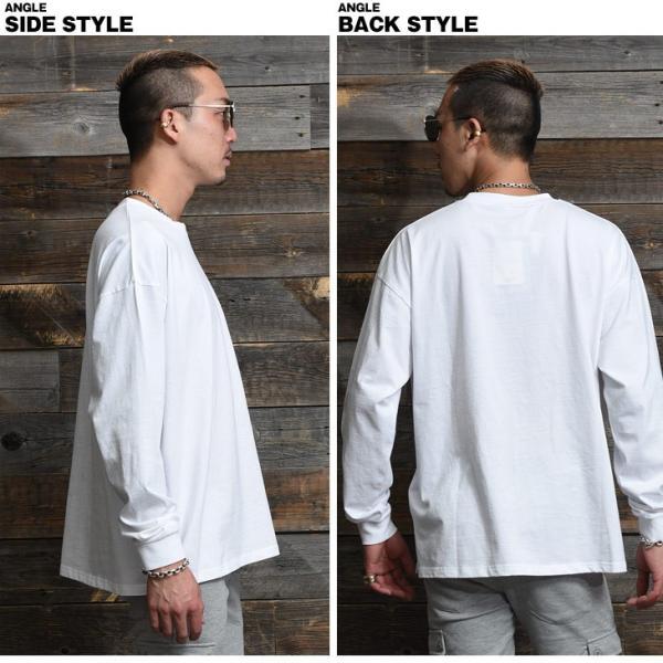 Tシャツ メンズ 長袖Tシャツ ロンT クルーネック ビックサイズ 大きいサイズ レイヤード 重ね着 無地Tシャツ オレンジ 白 ホワイト evergreen92 17