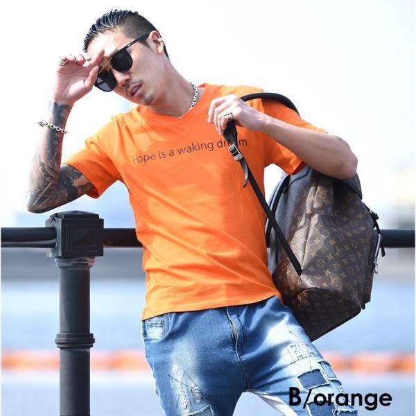 Tシャツ メンズ 半袖 夏 コーデ ブランド Vネック  新品 おしゃれ タイト 小さめ クルーネック かっこいい プリント ロゴ 白|evergreen92|12