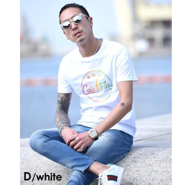 Tシャツ メンズ 半袖 夏 コーデ ブランド Vネック  新品 おしゃれ タイト 小さめ クルーネック かっこいい プリント ロゴ 白|evergreen92|16