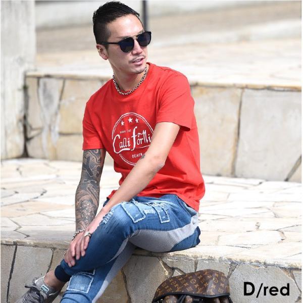Tシャツ メンズ 半袖 夏 コーデ ブランド Vネック  新品 おしゃれ タイト 小さめ クルーネック かっこいい プリント ロゴ 白|evergreen92|18