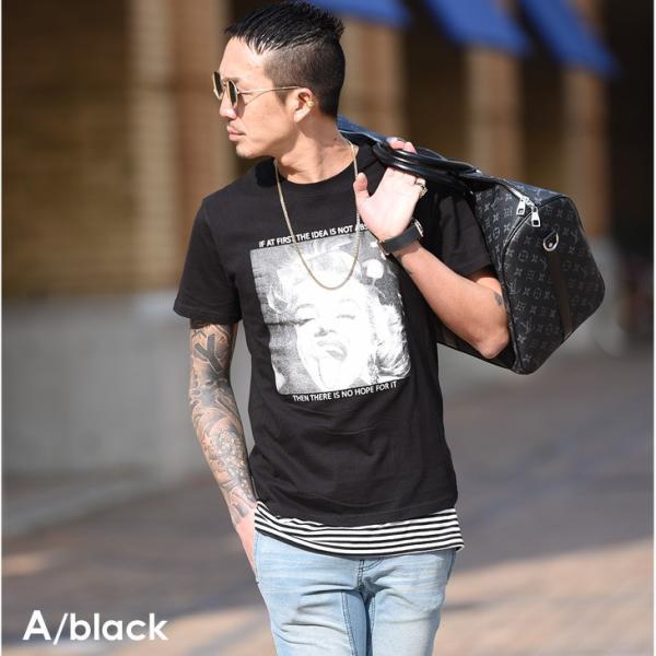 Tシャツ メンズ 半袖 夏 コーデ ブランド Vネック  新品 おしゃれ タイト 小さめ クルーネック かっこいい プリント ロゴ 白|evergreen92|09