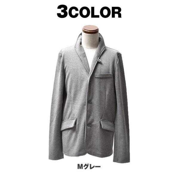 イタリアンカラージャケット メンズ 長袖 テーラードジャケット カジュアル 大きいサイズ XL ブラック グレー  細身 タイト 無地|evergreen92|15
