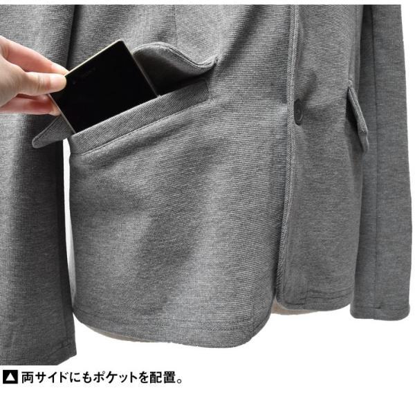 イタリアンカラージャケット メンズ 長袖 テーラードジャケット カジュアル 大きいサイズ XL ブラック グレー  細身 タイト 無地|evergreen92|18