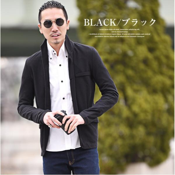 イタリアンカラージャケット メンズ 長袖 テーラードジャケット カジュアル 大きいサイズ XL ブラック グレー  細身 タイト 無地|evergreen92|07