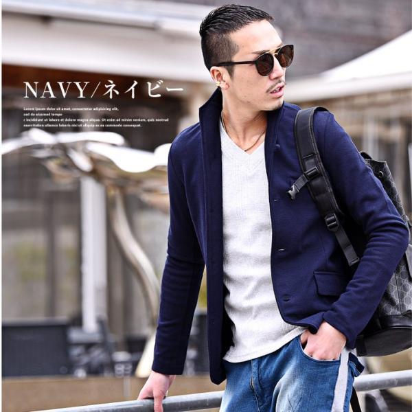 イタリアンカラージャケット メンズ 長袖 テーラードジャケット カジュアル 大きいサイズ XL ブラック グレー  細身 タイト 無地|evergreen92|10