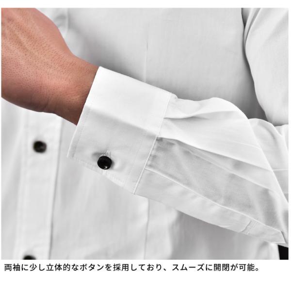 シャツ メンズ 長袖シャツ 長袖 メンズシャツ ワイシャツ Yシャツ コットンシャツ 開襟シャツ ボタンダウンシャツ LL物服|evergreen92|13