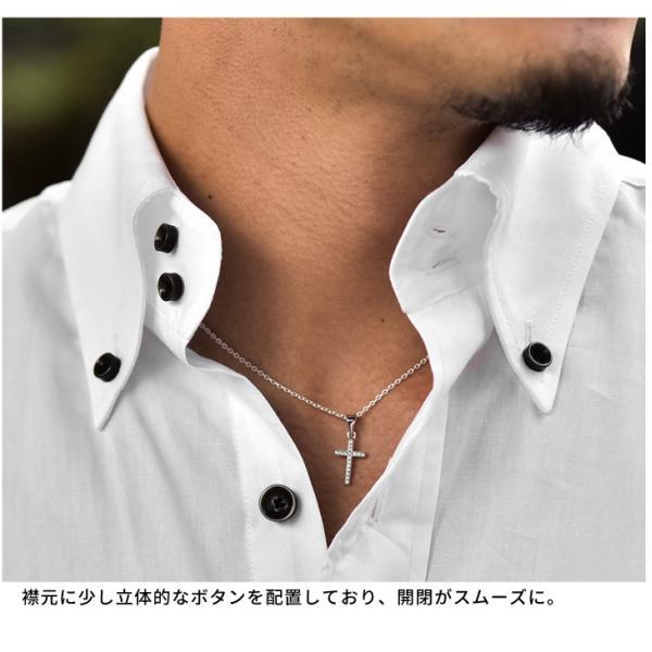 シャツ メンズ 長袖シャツ 長袖 メンズシャツ ワイシャツ Yシャツ コットンシャツ 開襟シャツ ボタンダウンシャツ LL物服|evergreen92|14