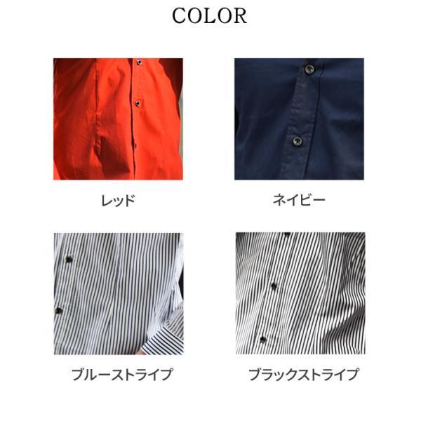シャツ メンズ 長袖シャツ 長袖 メンズシャツ ワイシャツ Yシャツ コットンシャツ 開襟シャツ ボタンダウンシャツ LL物服|evergreen92|16