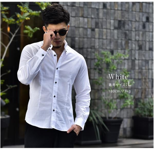 シャツ メンズ 長袖シャツ 長袖 メンズシャツ ワイシャツ Yシャツ コットンシャツ 開襟シャツ ボタンダウンシャツ LL物服|evergreen92|03