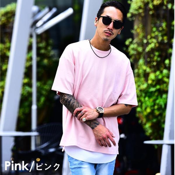メンズ ビックシルエット tシャツ ビックシルエットシャツ 半袖 ビッグTシャツ カットソー 大きいサイズ 夏 夏服 夏物|evergreen92|13