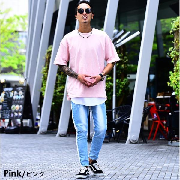 メンズ ビックシルエット tシャツ ビックシルエットシャツ 半袖 ビッグTシャツ カットソー 大きいサイズ 夏 夏服 夏物|evergreen92|14