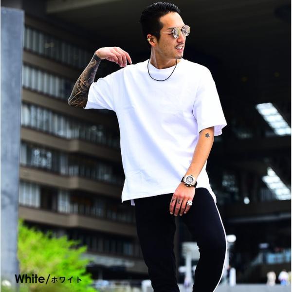 メンズ ビックシルエット tシャツ ビックシルエットシャツ 半袖 ビッグTシャツ カットソー 大きいサイズ 夏 夏服 夏物|evergreen92|08
