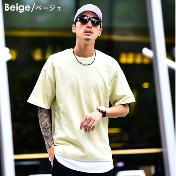メンズ ビックシルエット tシャツ ビックシルエットシャツ 半袖 ビッグTシャツ カットソー 大きいサイズ 夏 夏服 夏物|evergreen92|09