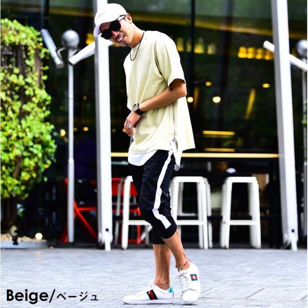 メンズ ビックシルエット tシャツ ビックシルエットシャツ 半袖 ビッグTシャツ カットソー 大きいサイズ 夏 夏服 夏物|evergreen92|10
