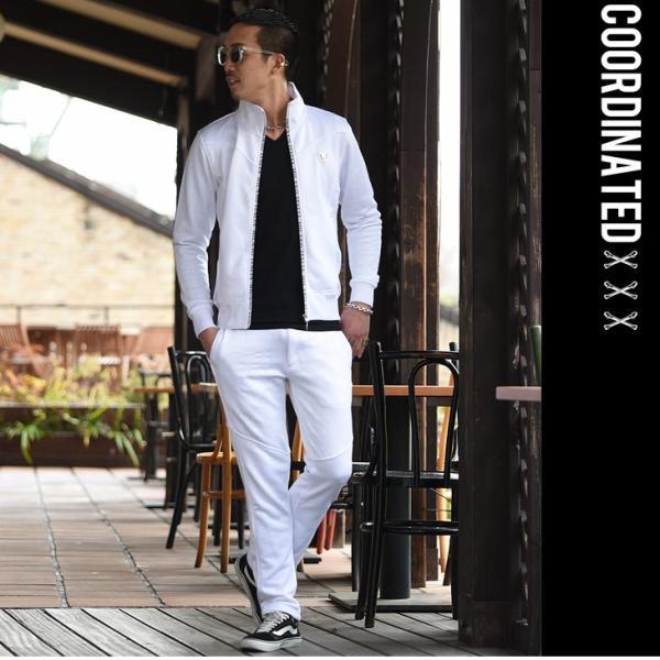 VIOLA rumore ヴィオラ セットアップ メンズ パンツ スウェット スウェットパンツ ジャケット ZIP パンツ ロングパンツ ジャージ evergreen92 11