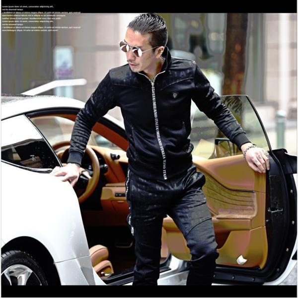 VIOLA rumore ヴィオラ セットアップ メンズ パンツ スウェット スウェットパンツ ジャケット ZIP パンツ ロングパンツ ジャージ evergreen92 08