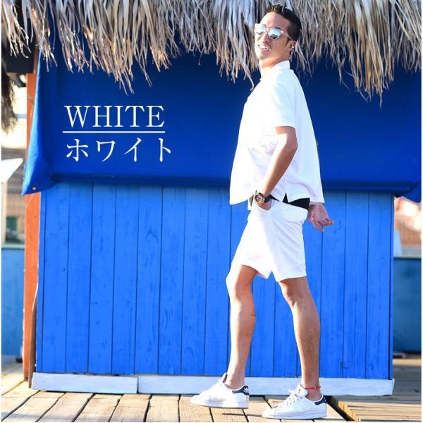セットアップ メンズ 上下 オープンカラーシャツ 開襟シャツ カラー オープン シャツ 半袖 ショート パンツ ショートパンツ  ハーフパンツ evergreen92 05